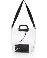 Barneys New York - Leather-trimmed Transparent Tote Bag - Lyst