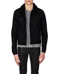 Saint Laurent - Shearling-lined Denim Jacket - Lyst