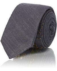 Title Of Work truth Beaded Wool Necktie - Gray