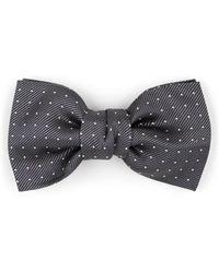 Lanvin - Polka Dot Silk Bow Tie - Lyst