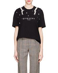 Givenchy - Logo Cotton T-shirt - Lyst