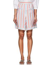 Thierry Colson - Simbad Striped Silk Bermuda Shorts - Lyst