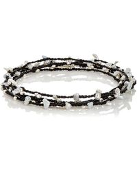 Feathered Soul - Keshi Pearls & Silver Beads On Cord - Lyst