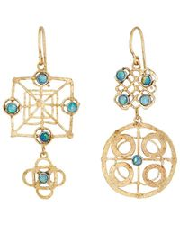 Judy Geib Wheel Double-drop Earrings