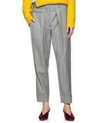 Cedric Charlier - Pleated Wool Slim Trousers - Lyst