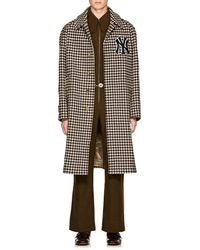 Gucci - Ny Yankeestm Houndstooth Wool Coat - Lyst