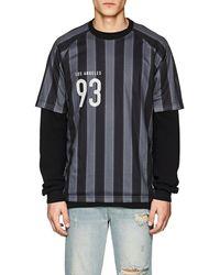 Stampd - Striped Mesh Soccer Jersey - Lyst