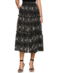 Co. - Floral Wool Gauze Midi-skirt - Lyst