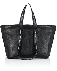 Balenciaga - Carry Shopper S Leather Tote Bag - Lyst