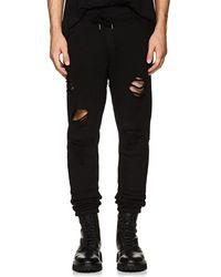 NSF - Milton Distressed Cotton Terry Jogger Trousers - Lyst