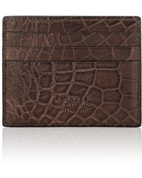 Barneys New York - Alligator Card Case - Lyst