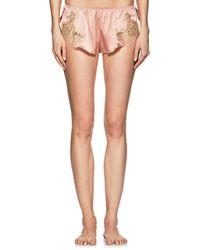 Gilda & Pearl - Gina Silk Satin Shorts - Lyst