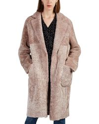 Barneys New York Alice Shearling Coat - Pink