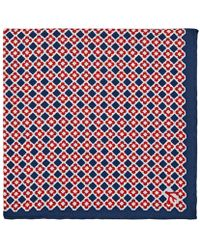 Isaia - Reversible Silk Pocket Square - Lyst