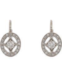 Cathy Waterman - Oval Frame Drop Earrings - Lyst