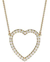 Jennifer Meyer - Diamond Large Open Heart Necklace - Lyst