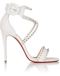 2fbcd1b4d83 ... amazon christian louboutin choca spikes leather sandals lyst 7fa4a c37fa