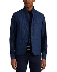 Luciano Barbera Padded Wool-blend Vest - Blue