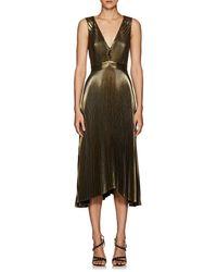 A.L.C. - Marisol Pleated Lamé Dress - Lyst
