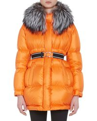 Prada - Fur-trimmed Oversized Down - Lyst