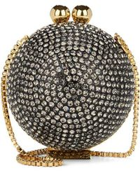 Marzook Crystal Ball Minaudière - Gray