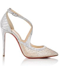 d223a184e08 Christian Louboutin - Twistissima Strass Ankle-strap Court Shoes - Lyst