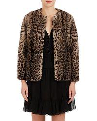 Lilly E Violetta - Katie Leopard-print Fur Jacket - Lyst