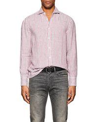 Brunello Cucinelli   Striped Linen Shirt   Lyst