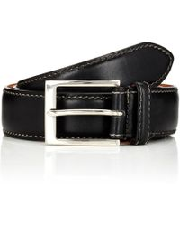 Harris Contrast-stitched Belt - Black