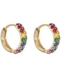 Carbon & Hyde - Rainbow Boom Huggie Hoop Earrings - Lyst