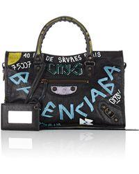 aed21135b9 Lyst - Balenciaga Arena Giant 12 Mini Pompon Bucket Bag in Metallic