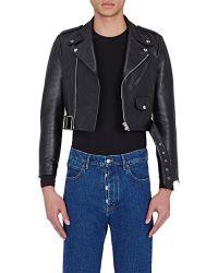 Men s Balenciaga Leather jackets On Sale e8f4183e6