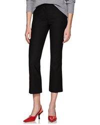 PT01 - Jaine Stretch-crepe Flared Crop Trousers - Lyst