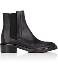 Barneys New York - Chain-embellished Leather Chelsea Boots - Lyst
