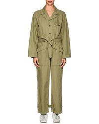Nili Lotan - Aria Cotton-linen Belted Jumpsuit - Lyst