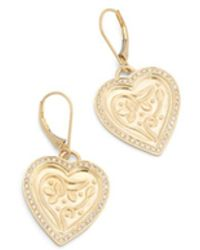 Ileana Makri Heart Beat Drop Earrings - Metallic
