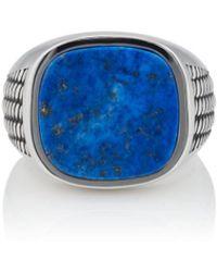 Barneys New York Lapis Lazuli Ring - Gray