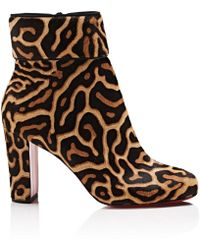 Christian Louboutin - Moulamax Calf Hair Ankle Boots - Black - Lyst