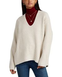 Acne Studios Deborah Ribbed Wool Jumper - Natural