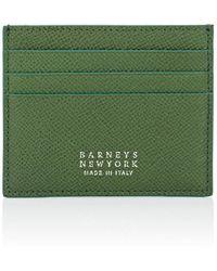 Barneys New York - Leather Card Case - Lyst