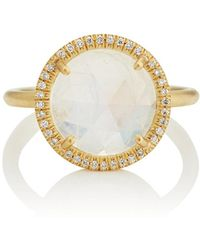Irene Neuwirth - Rainbow Moonstone Yellow Gold Ring - Lyst