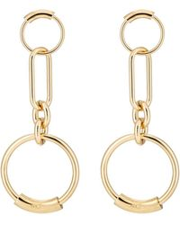 Chloé - Interlocking Hoop Earrings - Lyst