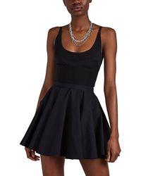 Alexander Wang Patchwork Flare Minidress - Black