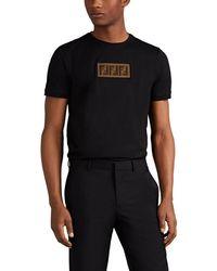 Fendi - Logo Cotton Fitted T-shirt - Lyst 38e108598945c