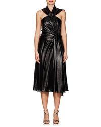 Prabal Gurung Silk-blend Lamé Cocktail Dress - Black