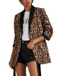 R13 Satin-trimmed Leopard - Multicolor