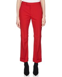 Maison Margiela - Crop Cuffed Trousers - Lyst