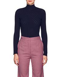 Cedric Charlier - Diamond-pattern Rib-knit Sweater - Lyst