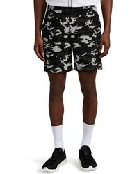 Neil Barrett Camouflage Cotton Terry Shorts - Black