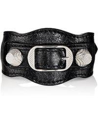 2bb47ed21ebed Lyst - Balenciaga Giant 12 Leather Buckle Bracelet in Black
